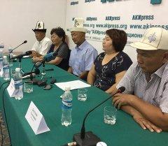 На пресс-конференция адвокат и семья Шабаевых. Архивное фото