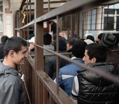 Мигранттар Москва шаарында. Архив