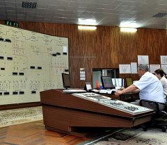 Токтогул ГЭСинин башкаруу станциясы. Архив