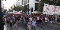 СПУТНИК_СИРИЗА, не подписывай – греки протестуют против нового договора с ЕС