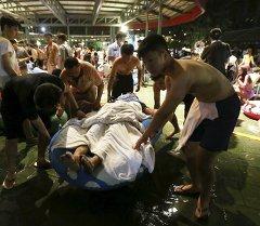Тайвандын аквопаркында боёктор фестивалы учурунда жардыруунун жана катуу өрттүн кесепетинен жабыркагандардын саны 516 адамга жетти