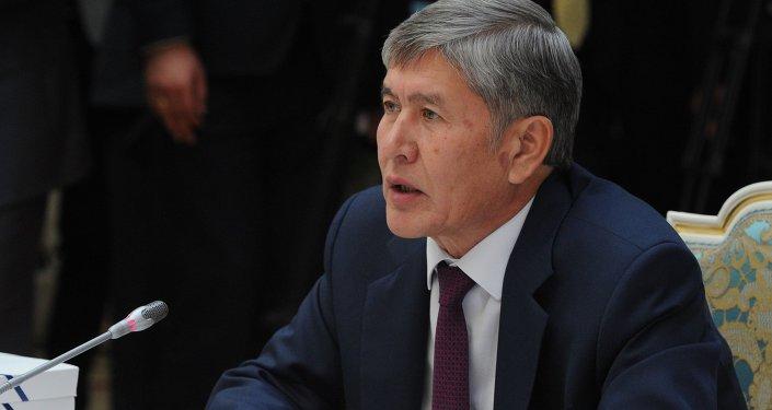 Өлкө башчысы Алмазбек Атамбаев. Архив