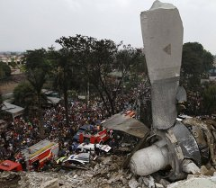Индонезиядагы мейманканага кулап түшкөн Hercules C-130 аскердик-унаа учагы. Архив