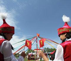 Участники фестиваля народного творчества в Кыргызстане. Архивное фото