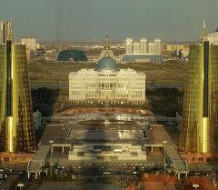 Астанадагы президенттин сарай имараты. Архив