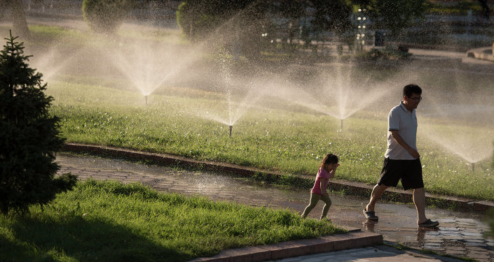 Температура воздуха в ближайшие два дня может подняться до 41 градуса. Бишкекчане придумывают способы борьбы с жарой