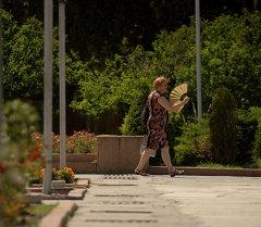 Бишкекте ысык аба-ырайы. Архив