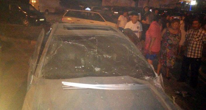 Автомобиль марки Мерседес-Бенц попал в аварию на Южной магистрали возле ресторана Ала-Тоо