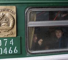 Пассажиры поезда Москва-Душанбе. Архивное фото