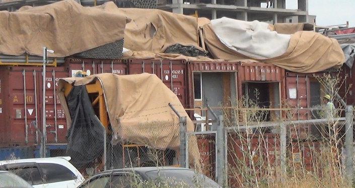 На территории посольства США в Кыргызстане вовсю идет стройка