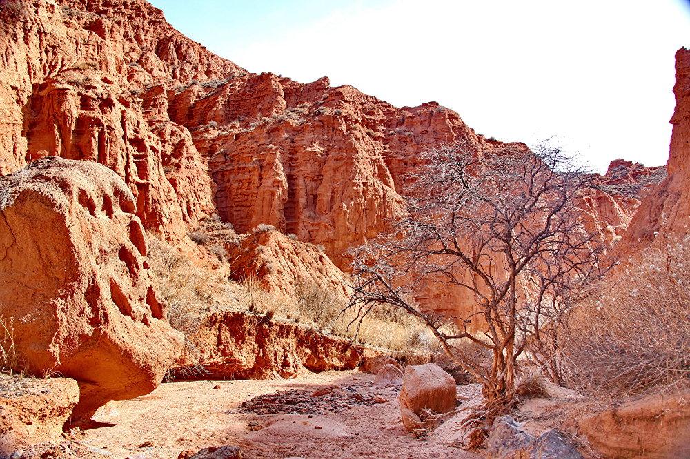 Большие каньоны Конорчока. В Кыргызстане тоже есть свой Grand Canyon, и находится он в долине реки Конорчок. Каньоны создавали ветер и вода на протяжении длительного времени. Сегодня они поражают своим величавыми скалами и скульптурами, автором которых выступила сама природа.