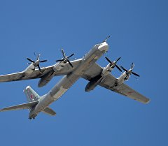 Стратегиялык Ту-95 аскердик учак. Архив