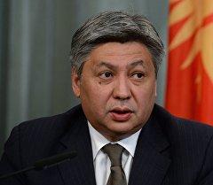 Министр иностранных дел Кыргызстана Эрлан Абдылдаев. Архивное фото