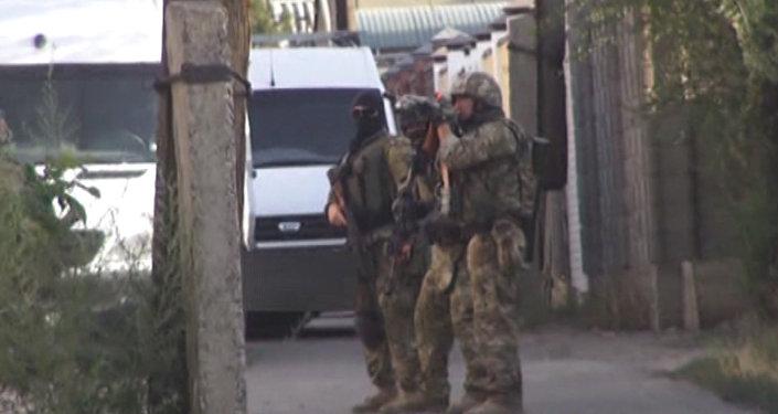 Кадры ликвидации боевиков ИГИЛ распространил ГКНБ