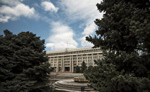 Здание белого дома Кыргызской Республики. Архивное фото