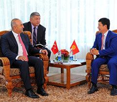 Премьер-министр Темир Сариев Түркиянын ТИМи Мевлюд Чавушоглу менен жолукту.