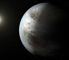 Сүрөтчү оюнда Kepler-452b экзопланетасы. Архив