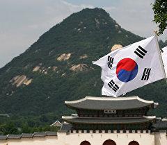Түштүк Кореянын желеги. Архив
