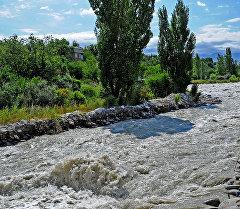 Уровень воды в реке Аламедин. Архивное фото