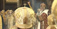 Патриарх Кирилл совершил литургию в День крещения Руси. Кадры богослужения