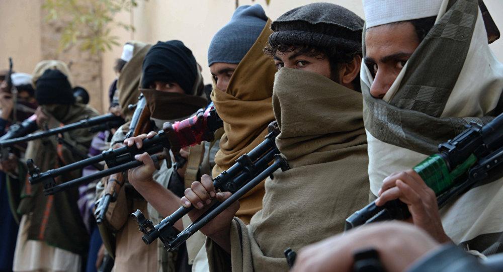 Архивное фото членов движения Талибан, Афганистан