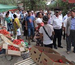 Проверки состояния рынков в городе Ош