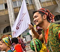Участник международный фестиваль культуры Оймо. Архивное фото