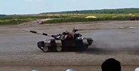Чемпионат мира по танковому биатлону проходит с 1 по 15 августа 2015 года на российском полигоне Алабино . Заявку на участие подали 14 государств: Россия, Казахстан, Кыргызстан.