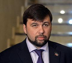 Заместитель председателя Народного Совета Донецкой Народной республики Денис Пушилин. Архивное фото
