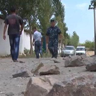 Последствия конфликта в Баткене. Кадры с места событий