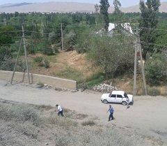 Баткен районундагы Көк-Таш айылы. Архив