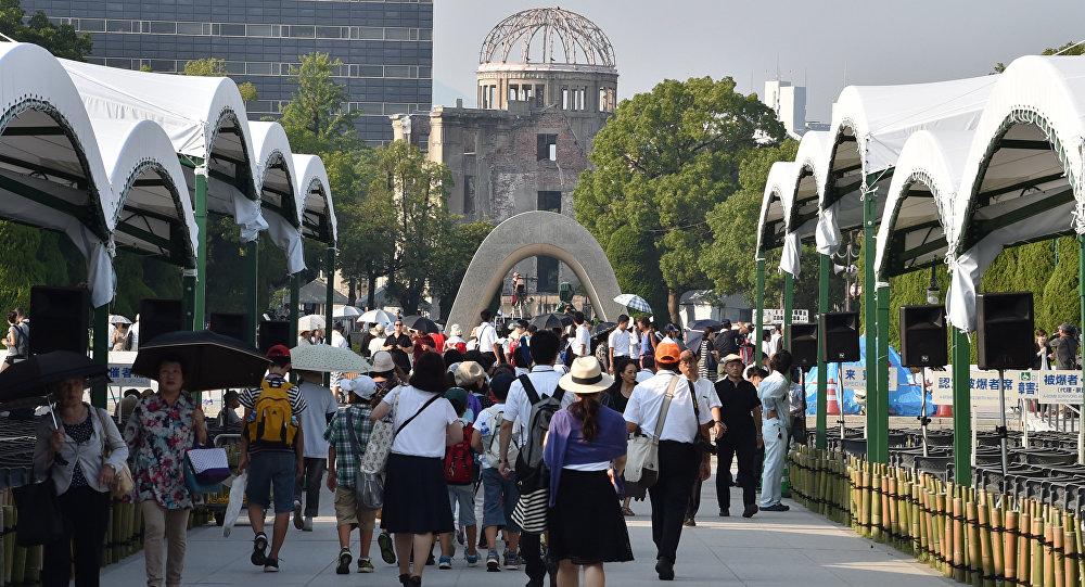 Япония жашоочулары Хиросима шаарында. Архив