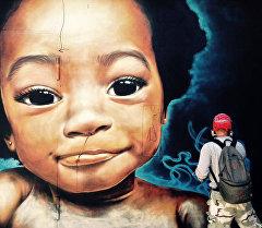 Кыргызстандык граффитчилерин жумушу. Архив