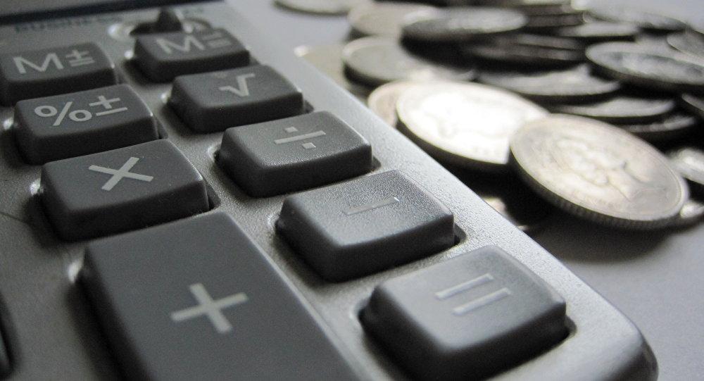 Калькулятор и монетки. Архивное фото