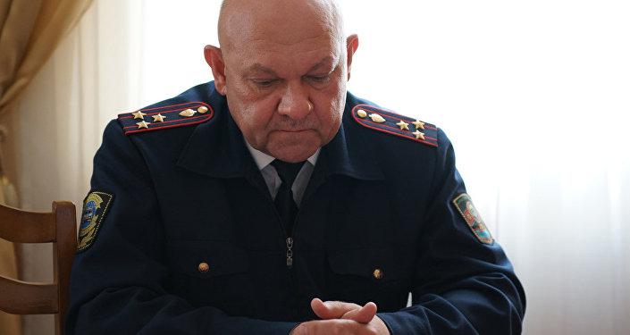 Жол кайгуул кызматынын башчысы Сергей Дьяченко. Архив