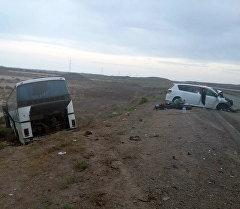 ДТП в Мойынкумском районе Жамбылской области Казахстана.
