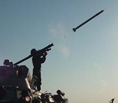 Мастера противовоздушного боя выстрелы из ПЗРК Игла и огонь зениток