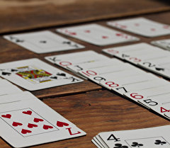 Игра пасьянс солитер. Архивное фото