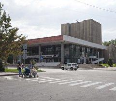 Здание Кыргызского Национального драматического театра имени Токтоболота Абдымомунова. Архивное фото