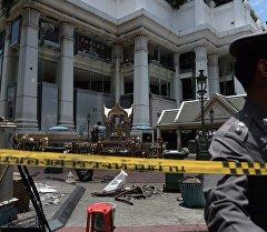 На месте взрыва в Бангкоке. Архивное фото