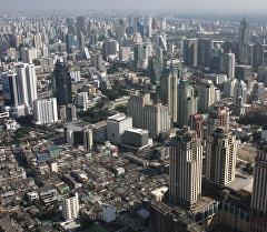 Вид на Бангкок с самого высокого здания города Baiyoke Sky Hotel. Архивное фото