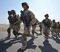Военнослужащие во время учений ОДКБ Взаимодействие 2014 в Казахстане. Архивное фото