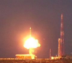 Испытания межконтинентальной баллистической ракеты Тополь. Кадры пуска