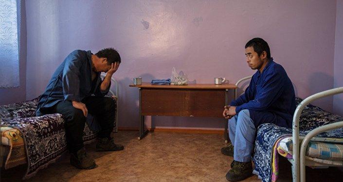 Нарушители визового режима РФ в специальном учреждении временного содержания иностранных граждан. Архивное фото