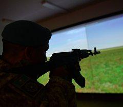 Стрельба в электронном тире на совместных учения Коллективных сил оперативного реагирования (КСОР) ОДКБ Взаимодействие-2015. Архивное фото
