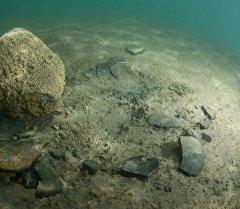 Исторические артефакты на дне озера Иссык-Куль.