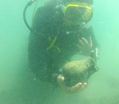 Подводный город скифов. Первые кадры со дна озера Иссык-Куль