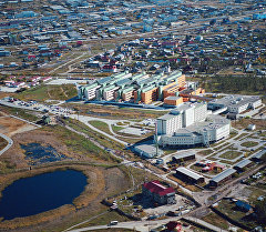 Якутск шаарынын көрүнүшү, Якутия. Архив