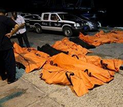 Жертвы кораблекрушения в Ливии.