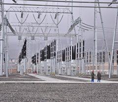 Кыргызстандагы электрстанция. Архивдик сүрөт